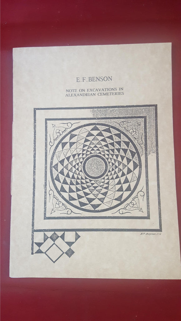 E F Benson - Note On Excavations In Alexandrian Cemeteries, Hermitage, 1992, 70/75