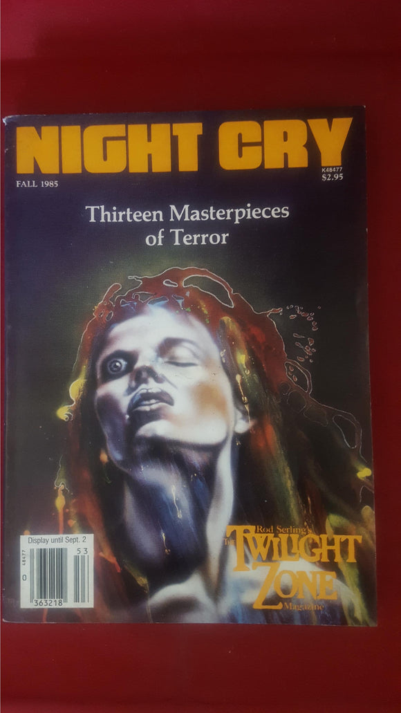Night Cry - The Magazine Of Terror, Vol. 1, No. 3, Fall 1985
