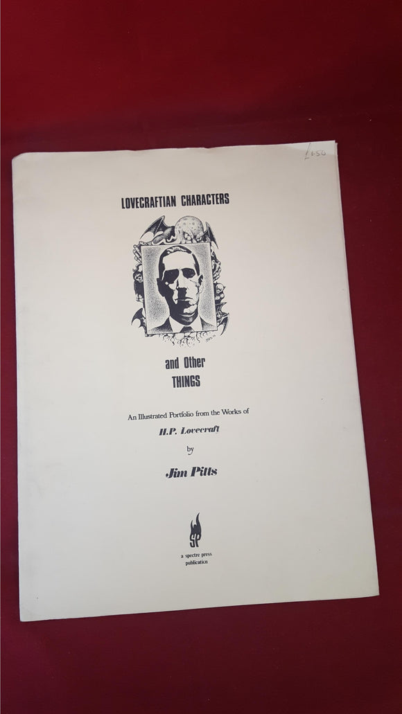 Jim Pitts - Lovecraftian Characters, Illustrated Portfolio, Spectre Press, 1976, Signed, First