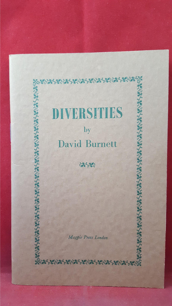 David Burnett - Diversities, Magpie Press, 1968, First Edition