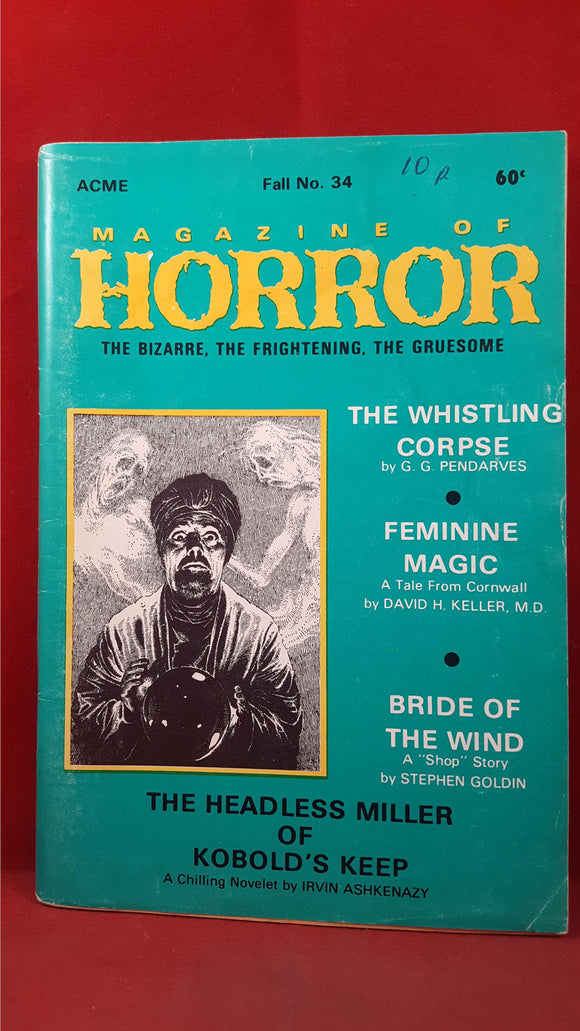 Magazine of Horror, Volume 6, Number 4  Fall 1970