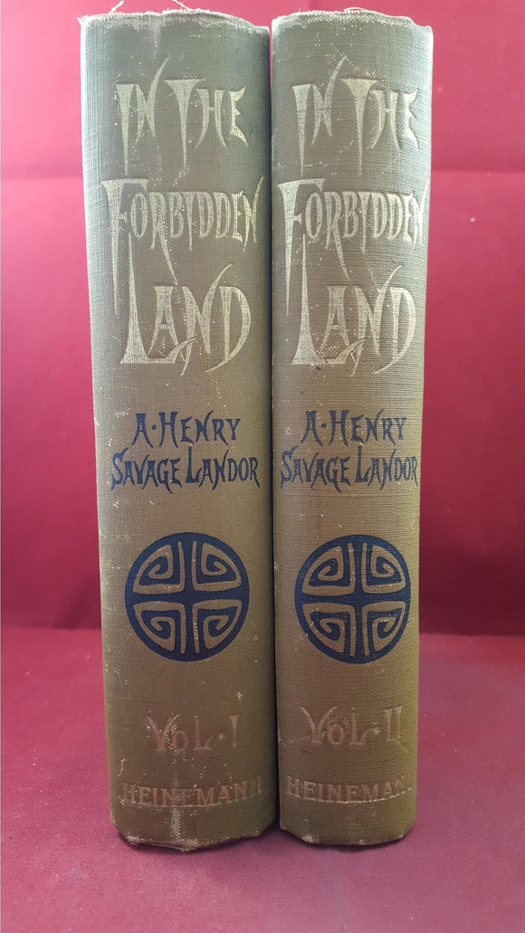 A Henry Savage Landor - In The Forbidden Land Volume 1 & II, 1898, First Editions