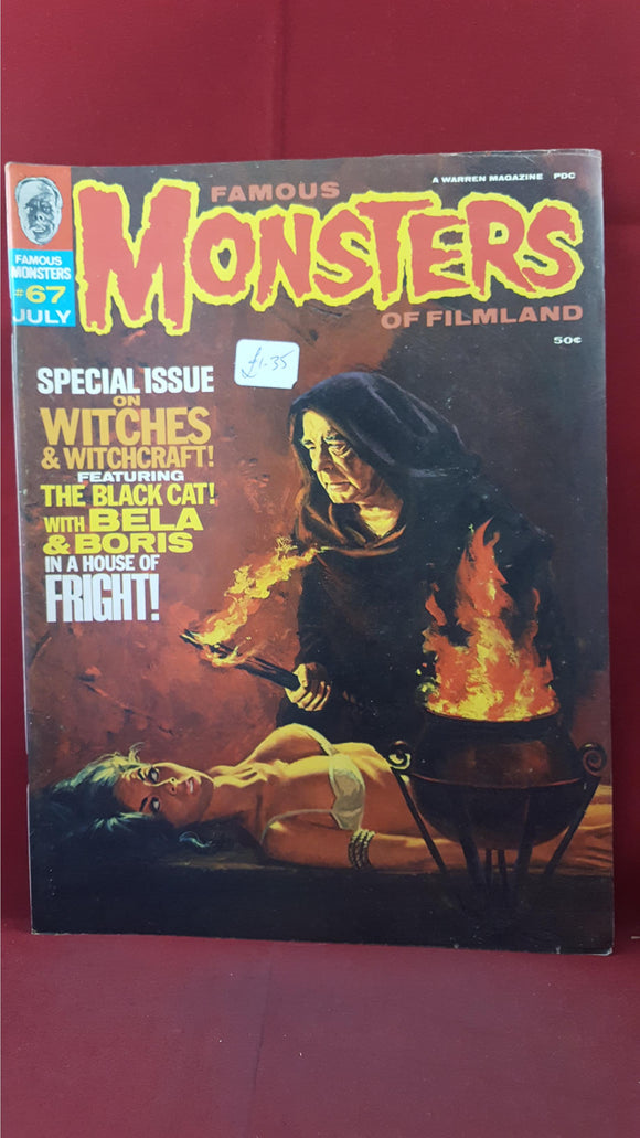 Famous Monsters Of Filmland Number 67 July 1970