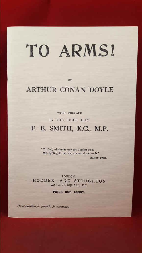 Arthur Conan Doyle - To Arms! Rupert Books, 1999, Limited