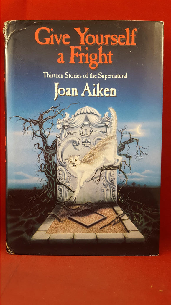 Joan Aiken - Give Yourself a Fright, Delacorte Press, 1989, First Edition, Signed, Inscribed