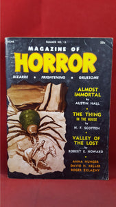 Magazine of Horror, Volume 3, Number 1  Summer 1966,  Robert E Howard