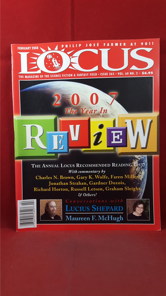 Charles N Brown - Locus  February 2008 Issue 565 Volume 60 Number 2