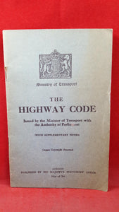 Ministry of Transport The Highway Code, 1936, with Great British Driving Licence