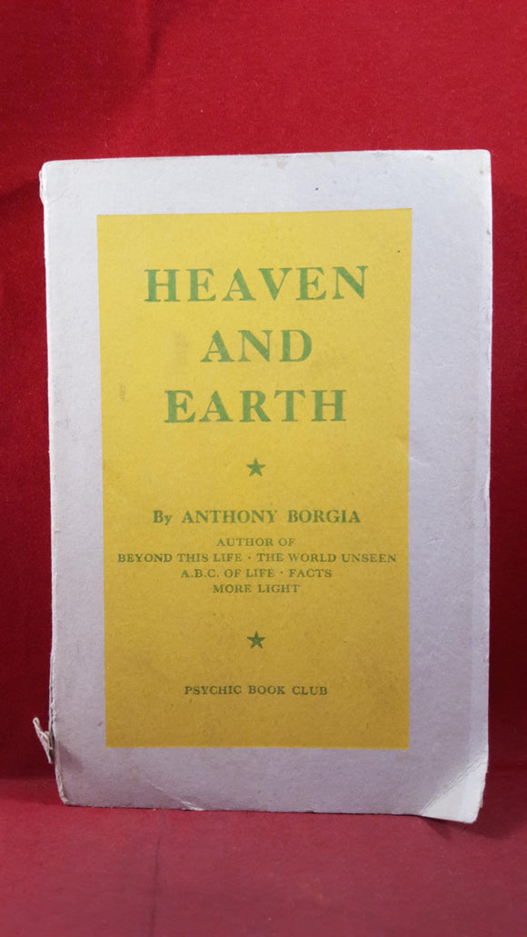 Anthony Borgia - Heaven and Earth, Psychic Book Club, 1948