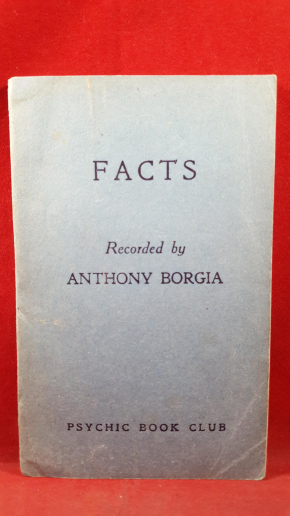 Anthony Borgia - Facts, Psychic Book Club, 1946