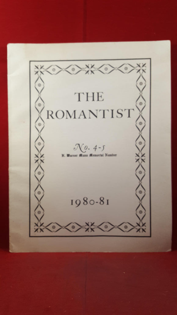 The Romantist Number 4-5, F Marion Crawford Memorial Society, 1980-81, Limited