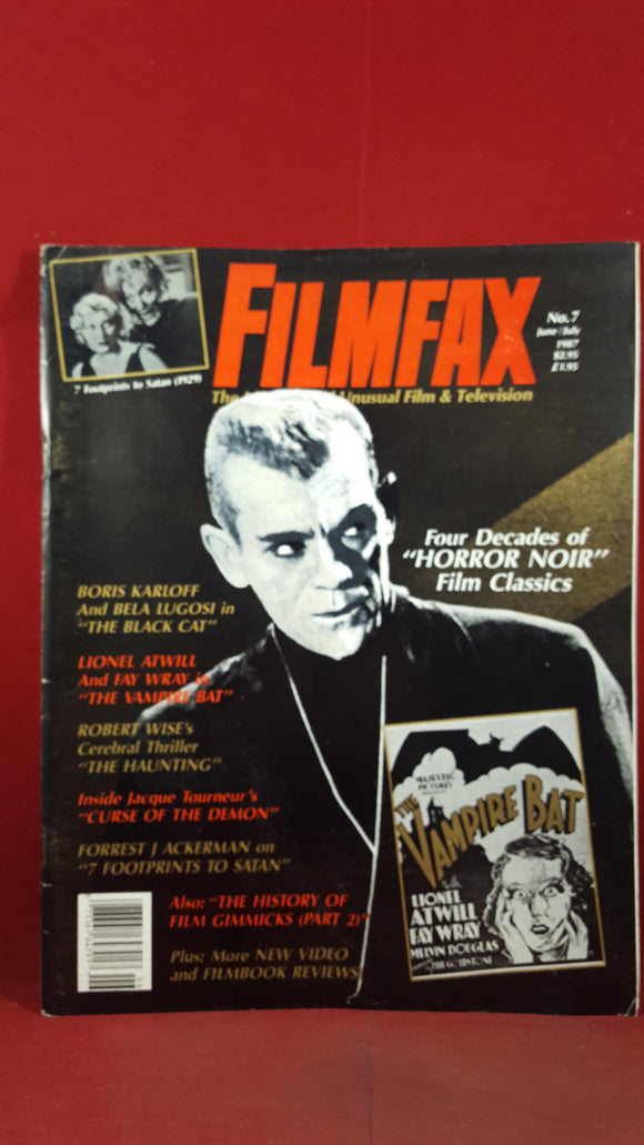 Filmfax, 5 magazines of Unusual Film & Television 1987, 1988, 1992, 1995
