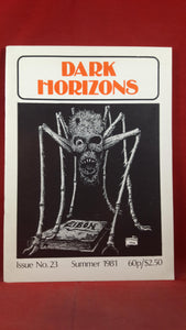Dark Horizons Issue No 23, Summer 1981, British Fantasy Society