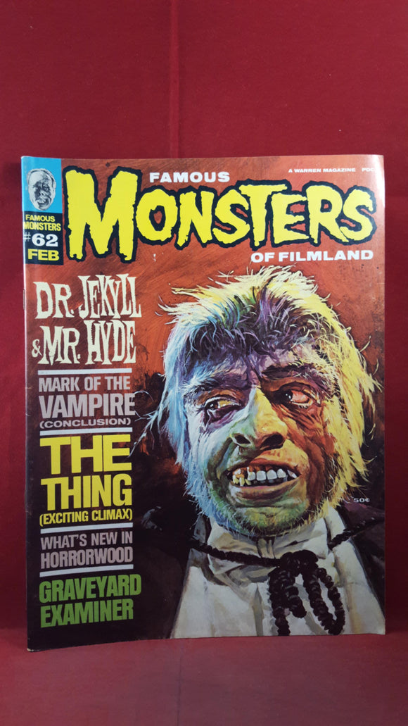 Famous Monsters Of Filmland Number 62 February 1970
