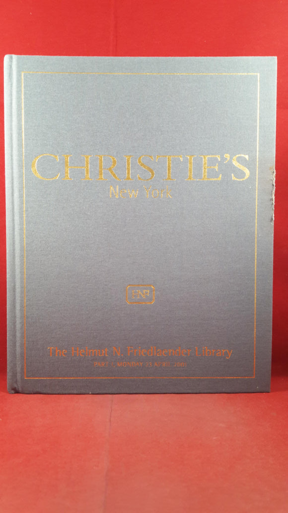 Christie's Auction - The Helmut N Friedlaender Library - Part 1, Monday 23 April 2001