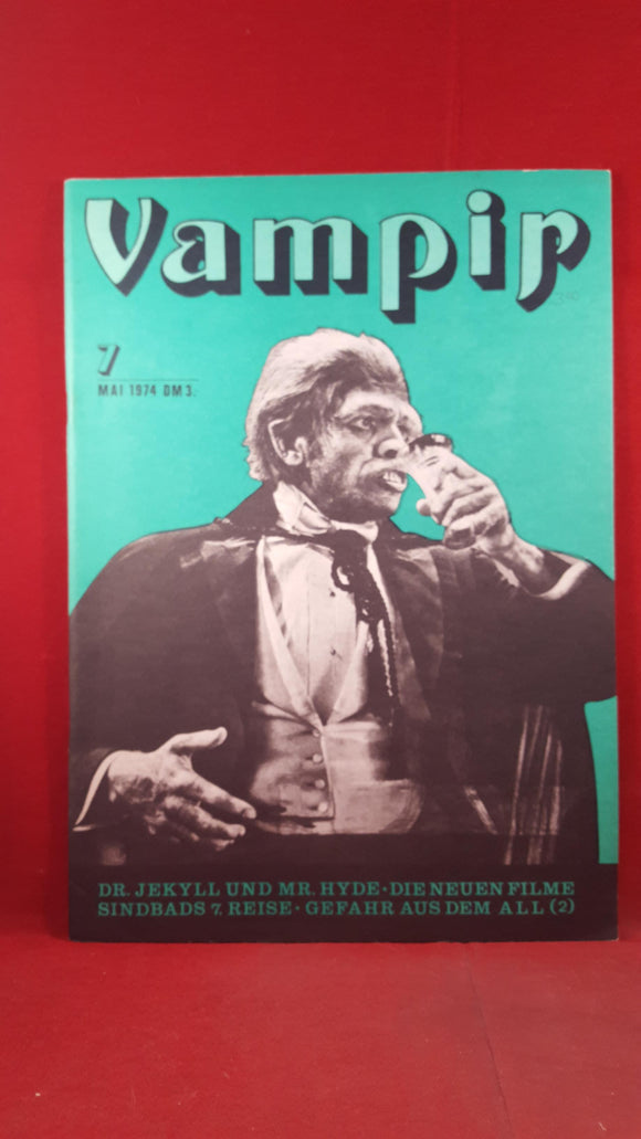 Vampir Number 7 May 1974, German Magazine