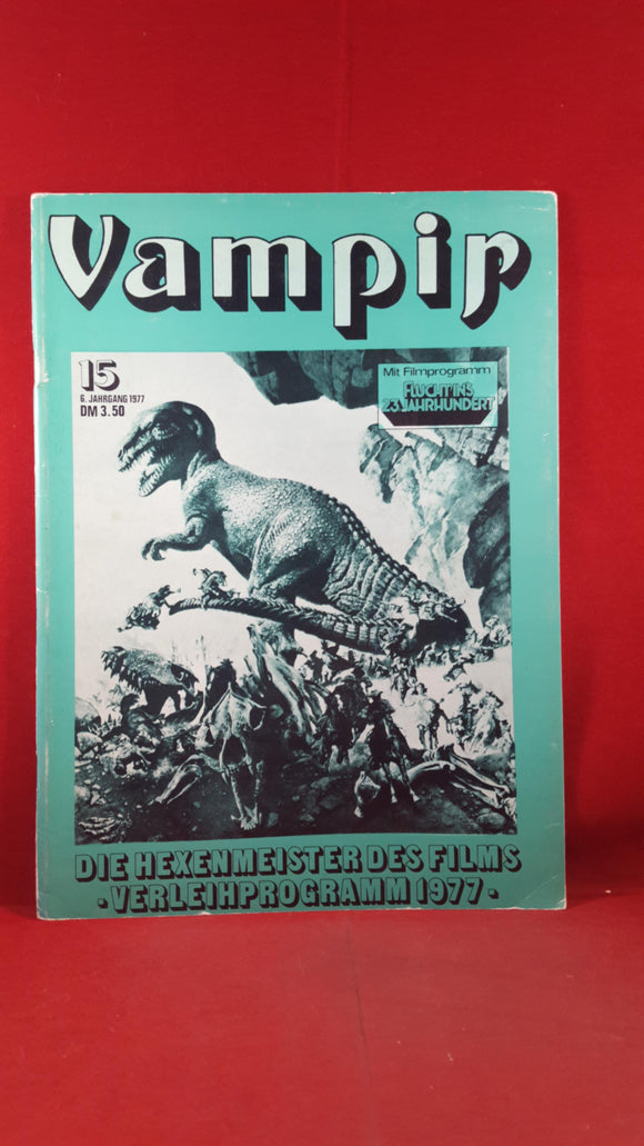 Vampir Number 15 1977, German Magazine, Logan's Run insert programme