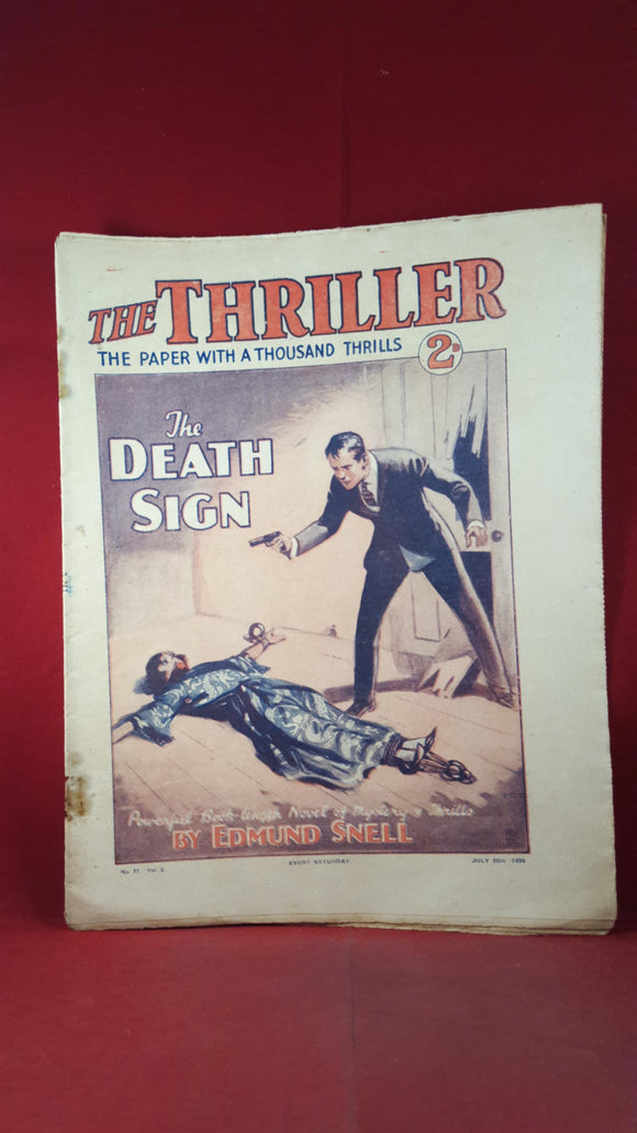 The Thriller Volume 3 Number 77 July 26th 1930