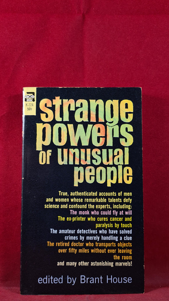 Brant House - Strange Powers of Unusual People, Ace Books, 1963 Paperback
