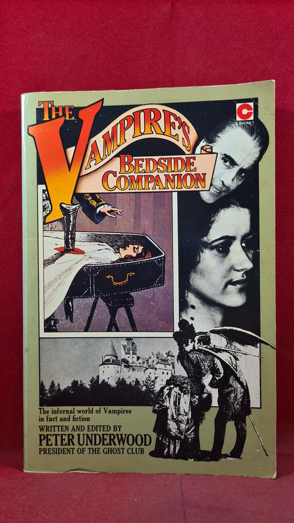 Peter Underwood - The Vampire's Bedside Companion, Coronet, 1976, Signed, Inscribed