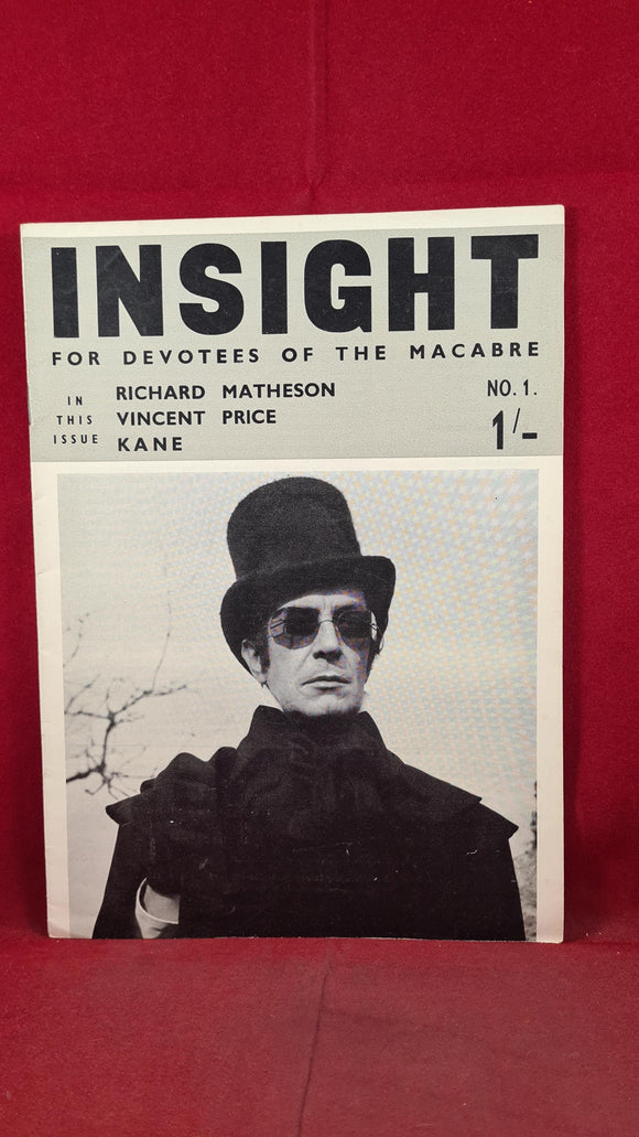 Insight   For Devotees of the Macabre Number 1 & Number 2 1965