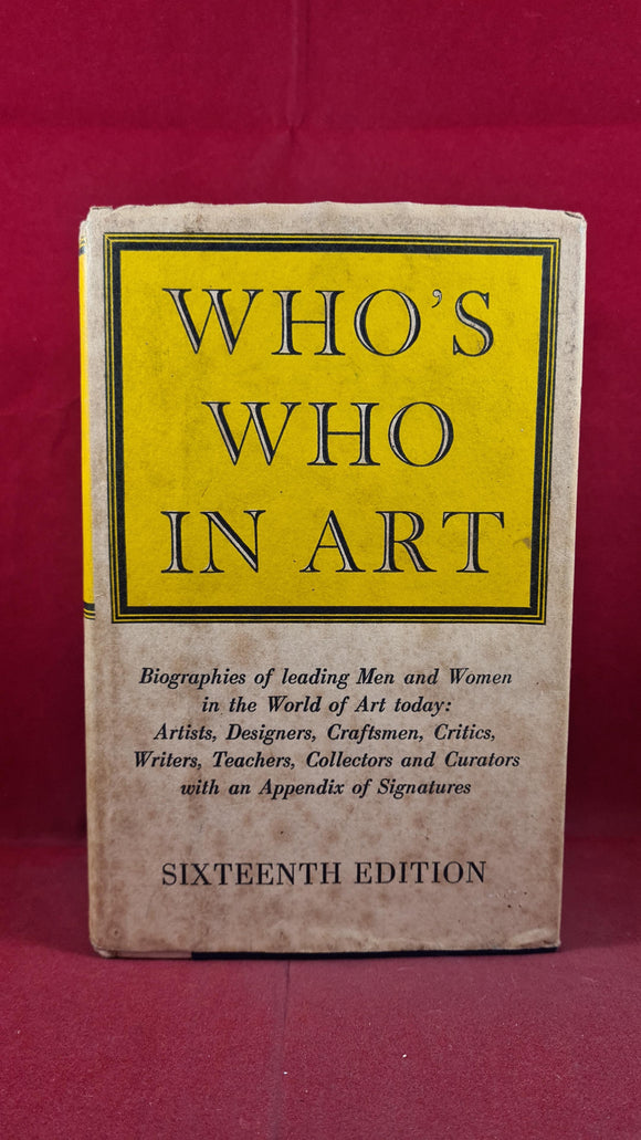 Who's Who In Art, The Art Trade Press, 1972
