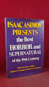 Isaac Asimov - The Best Horror and Supernatural of the 19th Century, 1983, 1st Edition