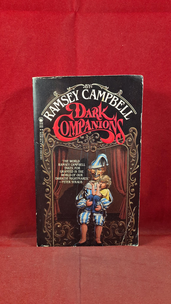 Ramsey Campbell - Dark Companions, First TOR Printing, 1985, Signed, Inscribed