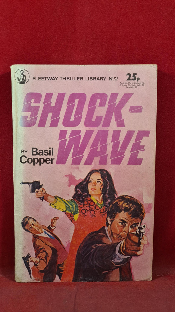 Basil Copper - Shock-Wave, Fleetway Thriller Library No.2, 1977, Paperbacks