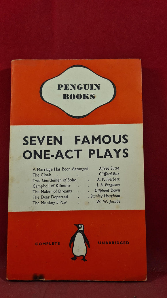 Seven Famous One-Act Plays, Penguin Books, 1939, The Monkey's Paw - W W Jacobs