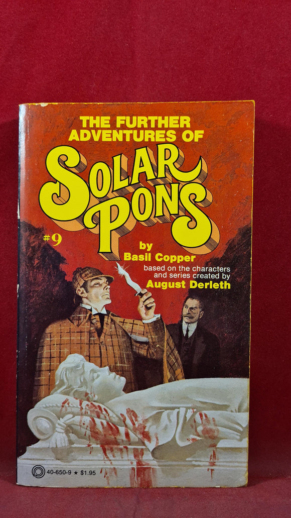 Basil Copper - Further Adventures of Solar Pons, Pinnacle, First Printing 1979, Paperbacks
