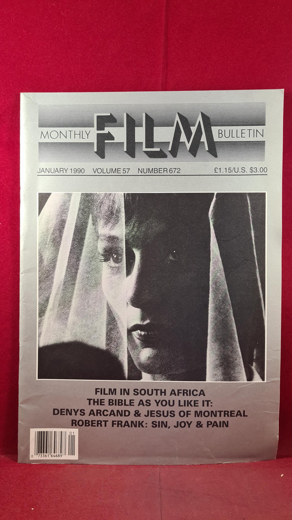 Monthly Film Bulletin Volume 57 Number 672 January 1990