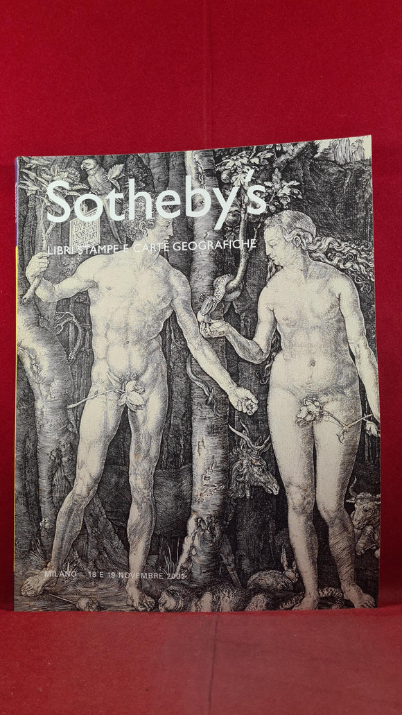 Sotheby's Books, Prints and Geographical Maps, November 2002, Milan
