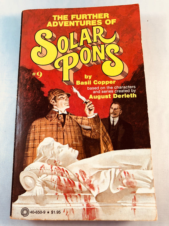 Basil Copper - The Further Adventures of Solar Pons (9), Pinnacle Books 1979, 1st Edition, Inscribed & Signed (Paperback)