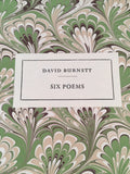 David Burnett - Six Poems, Black Cygnet Press 1995, with wood engravings by Sister Margaret Tournour, Limited to 150 Copies, Tragara Press