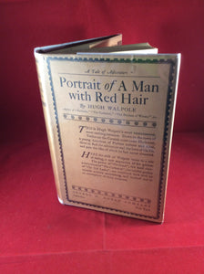 Hugh Walpole, Portrait of a Man with Red Hair, George H. Doran Company, 1925, First USA Edition, Author's Edition.