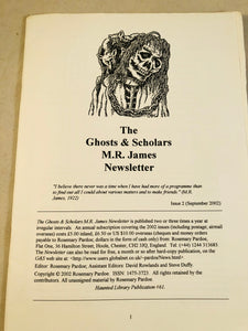 The Ghosts & Scholars - M. R. James Newsletter, Haunted Library Publications, Issue 2 (Sept 2002)