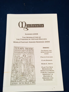 Machenalia - Summer 2008, The Newsletter of the Friends of Arthur Machen
