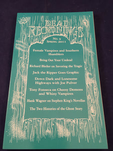 Dead Reckonings - No. 9, Spring 2011, S. T. Joshi & Tony Fonseca
