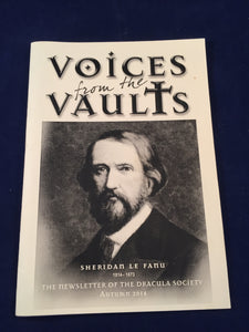 Voices from the Vaults - Sheridan Le Fanu 1814-1873, The Newsletter of the Dracula Society, Autumn 2014