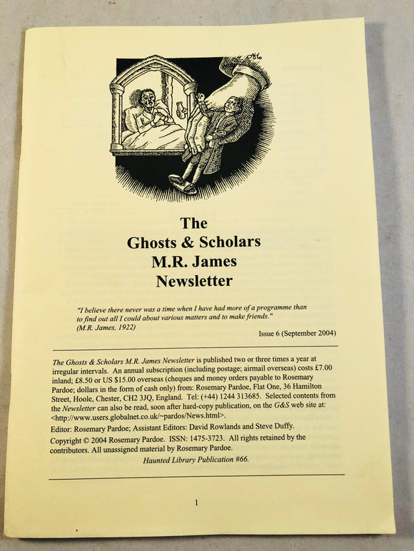 The Ghosts & Scholars - M. R. James Newsletter, Haunted Library Publications, Issue 6 (September 2004)