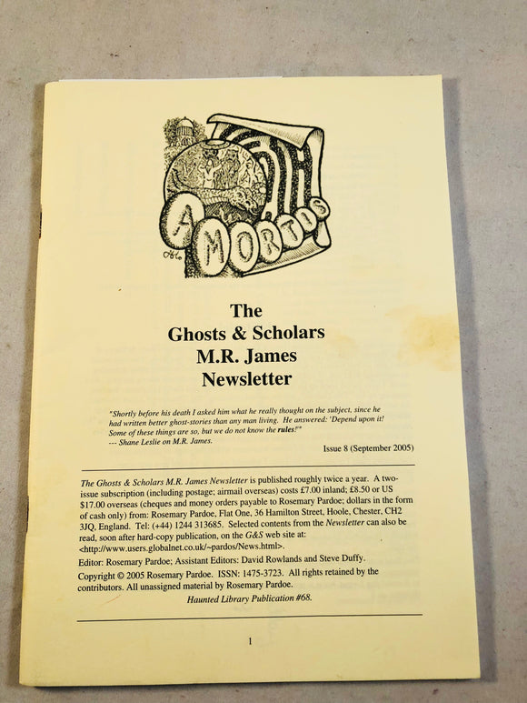 The Ghosts & Scholars - M. R. James Newsletter, Haunted Library Publications, Issue 8 (September 2005)