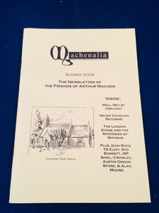 Machenalia - Summer 2006, The Newsletter of The Friends of Arthur Machen