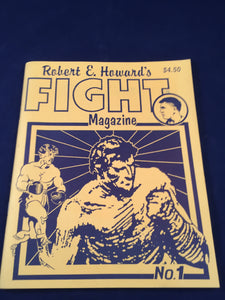 Robert E. Howard's - Fight Magazine No.1, 1990, First Printing, Inscribed
