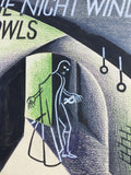 Frederick Cowles - The Night Wind Howls, Muller 1938, 1st Edition in Original Dust Jacket and Banner Advertisement. Comes with the rare original art work and proofs for the Dust Jacket