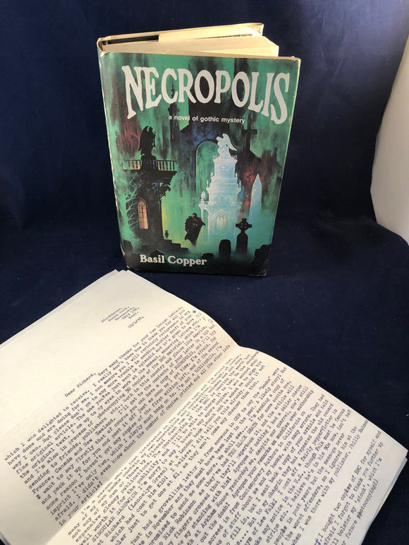 Basil Copper - Necropolis, Arkham House 1980, 1st Edition, Inscribed & Signed by the Author to Richard Dalby with Letters
