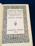 Arthur Machen - Casanova's Escape From The Leads, Casanova Society 1925