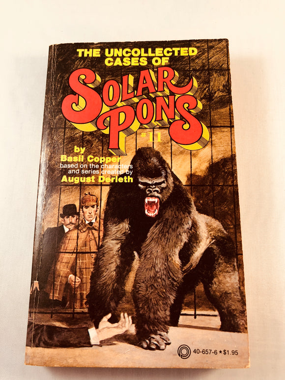 Basil Copper - The Uncollected Cases of Solar Pons (11), Pinnacle Books 1980, 1st Edition, Inscribed & Signed (Paperback)