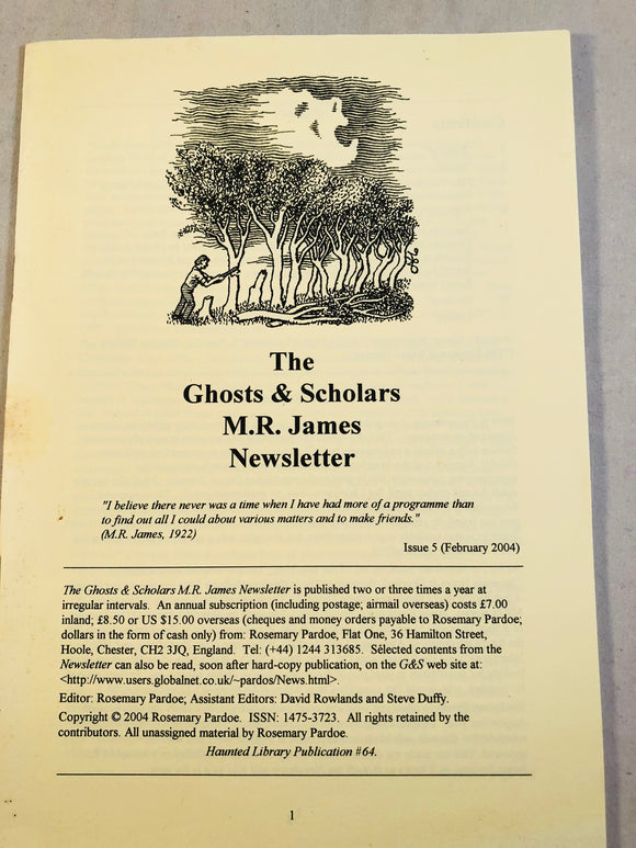 The Ghosts & Scholars - M. R. James Newsletter, Haunted Library Publications, Issue 5 (February 2004)