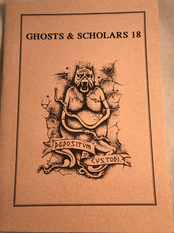 Ghosts & Scholars - Haunted Library, Rosemary Pardoe 1994, Issue 18